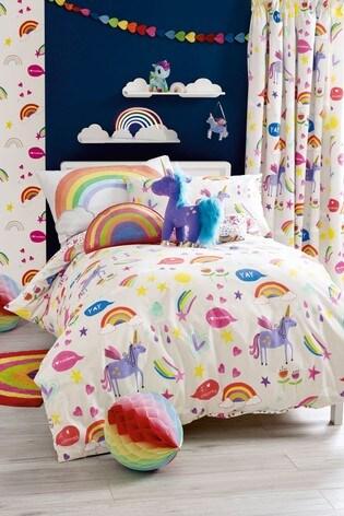 Swell Rainbows And Unicorns Duvet Cover And Pillowcase Set Frankydiablos Diy Chair Ideas Frankydiabloscom