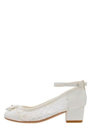 Monsoon Children Ivory Louisa Lace Princess Shoes