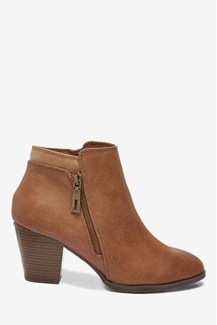 Buy Wallis Arabella Tan Side Zip Ankle