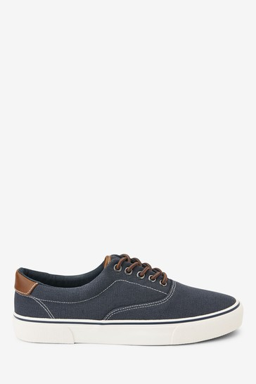Buy Navy Canvas Pumps from the Next UK