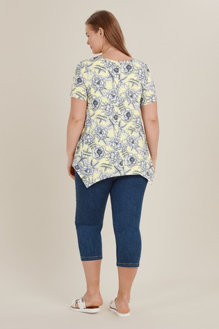 caca49605f Buy Evans Curve Yellow Floral Print Top from the Next UK online shop