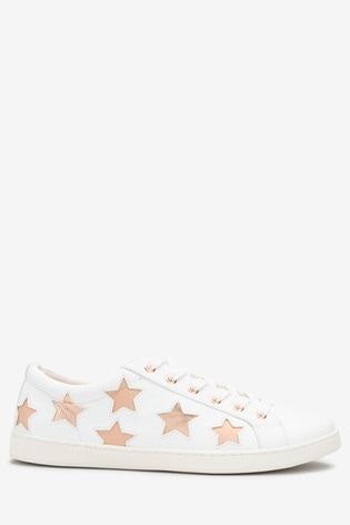 Shoptagr | Rose Gold Star Lace-up