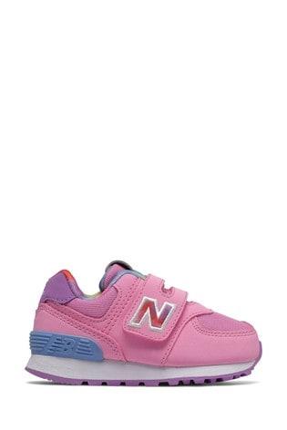 New Balance 574 Infant Velcro Trainers