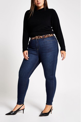 cheap price attractive price authorized site River Island Dark Auth Plus Size Molly Santa Jeans