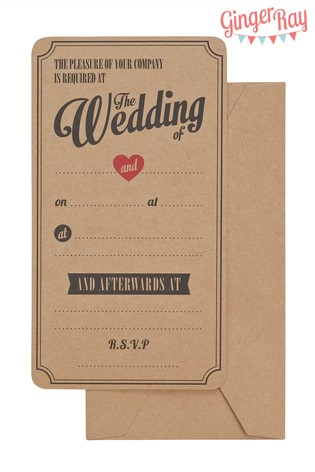 Buy 10 pack ginger ray wedding invitations from the next uk online shop 10 pack ginger ray wedding invitations filmwisefo