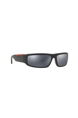 4192abe54 Čierne slnečné okuliare Prada Sport so zrkadlovými sklami ...