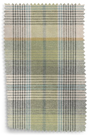 Buy Versatile Check Milton Green Upholstery Fabric Sample From The