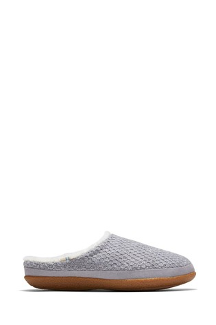 Buy Toms Grey Ivy Slippers from the