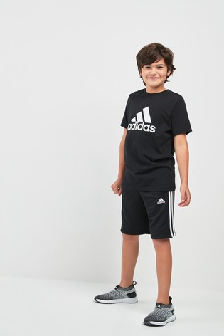 e79090bd1 Buy adidas Essentials Black 3 Stripe Jersey Short from the Next UK ...