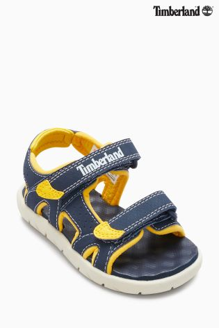 Timberland Perkins Row 2-Strap Navy/Yellow Synthetic 27 EU NO6G7xSfm