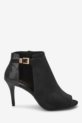 big sale classic shoes classic style Black Forever Comfort® Cut-Out Peep Toe Shoe Boots