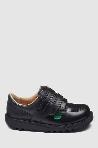 vente chaude en ligne d4e5a c09d9 Kickers® Kick Low Black Velcro Shoe