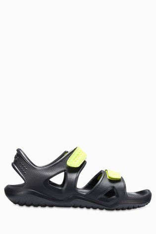 f7fb440284d6 Buy Crocs™ Black Swiftwater River Sandal from Next Gibraltar