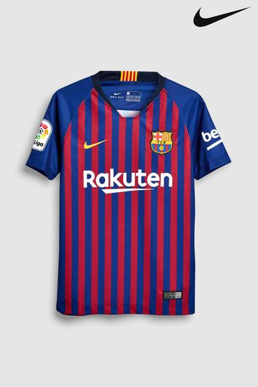 3e487ec2e1bcb Buy Nike FC Barcelona 2018/19 Kids Stadium Football Jersey from Next ...