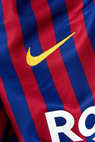 Buy Nike FC Barcelona 2018 19 Kids Stadium Football Jersey from Next Ireland 67574fface5