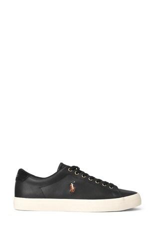 black leather ralph lauren shoes