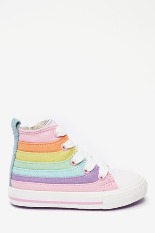 Buy Pastel Rainbow High Top Trainers