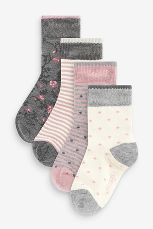 Buy Thought Pink Rose Kids Socks Box from the Next UK online shop