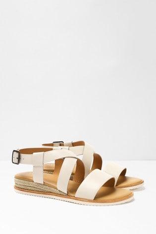 Bone Sofia Jute Mini Wedge Sandals