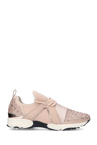 Buy Carvela Lament Bling Nude Trainers