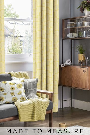 Buy Little Trees Yellow Made To Measure Curtains By Missprint From The Next Uk Online Shop