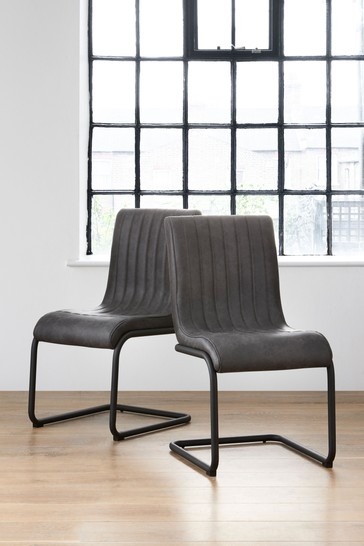 Buy Set Of 2 Bernie Faux Leather Dining Chairs From The Next Uk