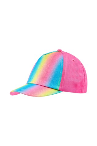 5f7346ab3 Angels by Accessorize Pink Rainbow Glitter Baseball Cap