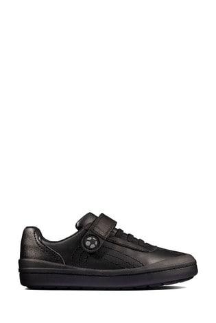 Buy Clarks Black Leather Rock Pass KIds