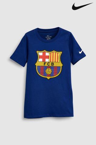 Buy Nike FC Barcelona Kids Crest T-Shirt from Next Ireland 736d018f54d