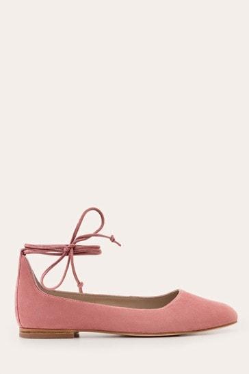Buy Boden Pink Effie Ballet Flat Shoes