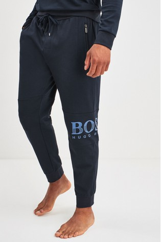 popular stores details for beautiful and charming BOSS Blue Tracksuit Shiny Print Logo Joggers