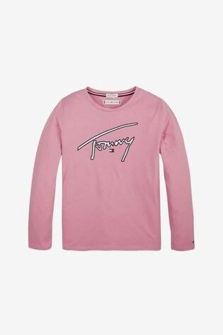 Kauf authentisch hochwertiges Design exquisites Design Tommy Hilfiger Girls Signature Long Sleeve T-Shirt