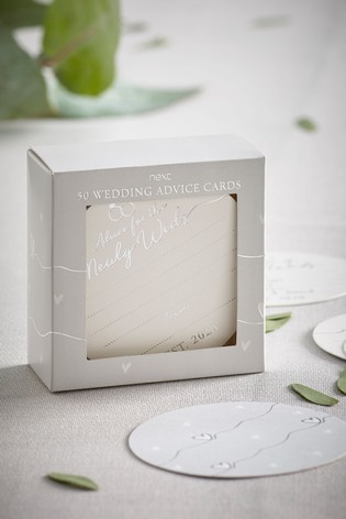 Buy 50 Pack Wedding Advice Cards From The Next Uk Online Shop