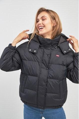 01fa4da8f Buy Levi s® Black Anya Padded Jacket from Next Ireland
