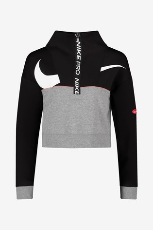 16 100/% Polyester Size XL Nike Girls Fit Dry Warm Up Jacket Black NEW