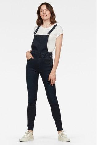 official photos 49afd ce611 G-Star Lynn High Waist Skinny Jumpsuit
