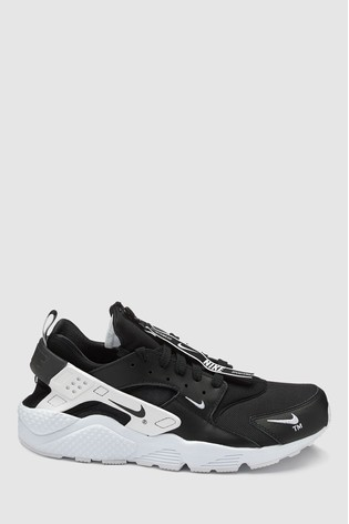 the latest 2005b e5d52 Black Nike Huarache Run Premium Zip ...