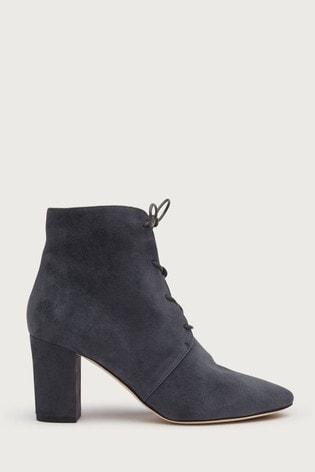 Buy L.K.Bennett Grey Lira Lace-Up Ankle
