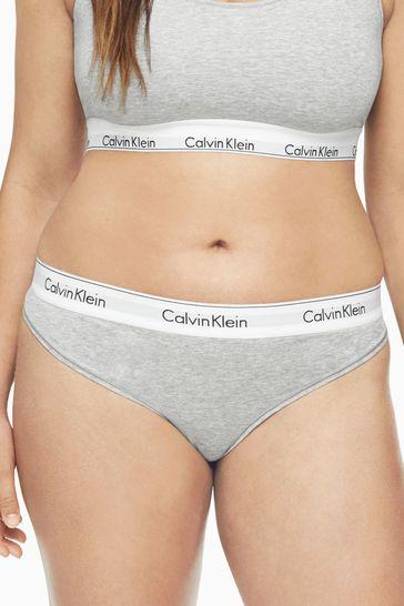 rational construction amazing quality low price Calvin Klein Grey Modern Cotton Plus Bikini