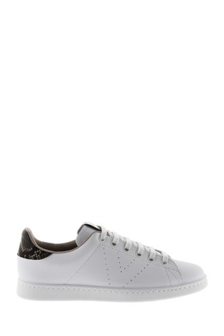 Buy Victoria White Snake Print Trainers