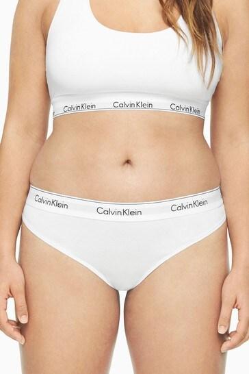 2019 hot sale dirt cheap uk store Calvin Klein White Modern Cotton Plus Bikini