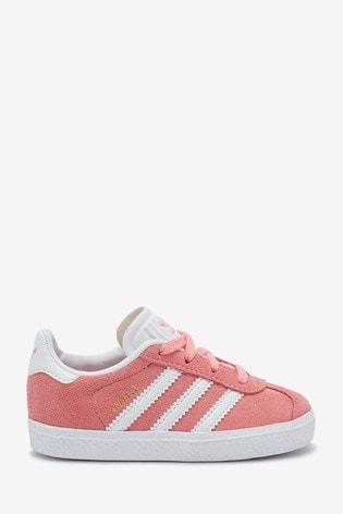 Buy adidas Originals Pink/White Gazelle