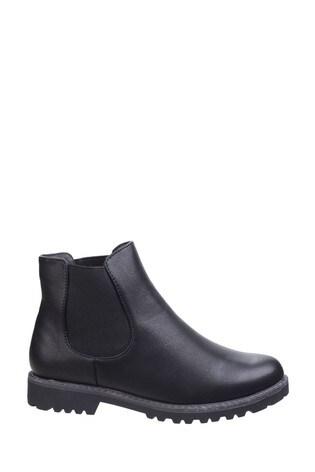Divaz Black Grace Ladies Chelsea Boots