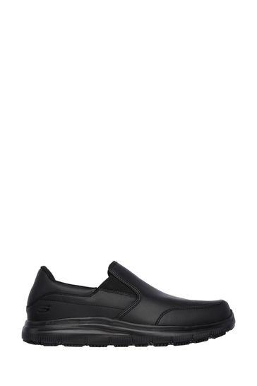black shoes skechers