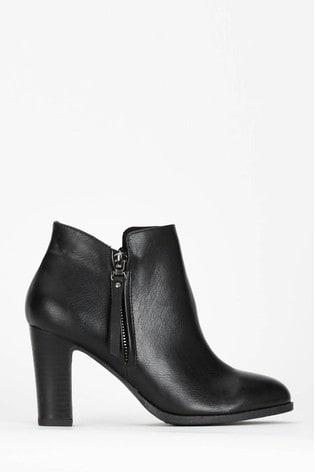 arrives latest famous brand Wallis Black Aluna Long Zip Pull Ankle Boots