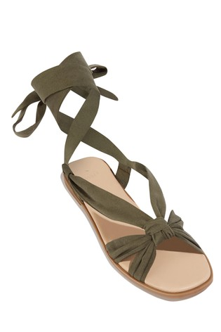 Flat Green Next Sandal Ankle Oasis Tie Buy From Luxembourg 6gfIYb7yv