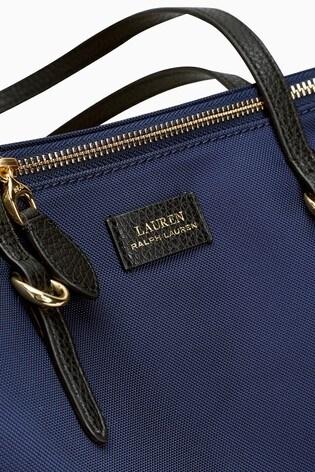 huippumuoti sulavalinjainen maksaa viehätysvoimaa Lauren Ralph Lauren® Navy Chadwick Bag