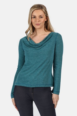 Regatta Womens Frayda Lightweight Wool Look Cowl Neck Style T-Shirts//Polos//Vests