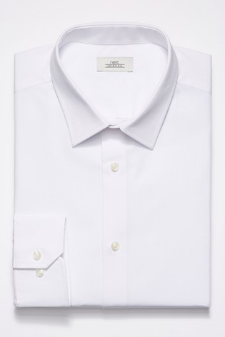 e70a1ed6a1e6 Buy White Slim Fit Short Sleeve Easy Care Shirt from Next Slovakia