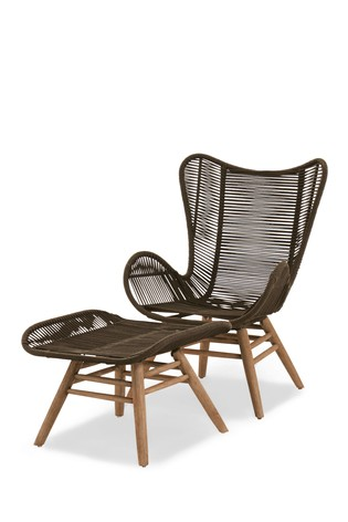 Bali Garden Chair And Footstool